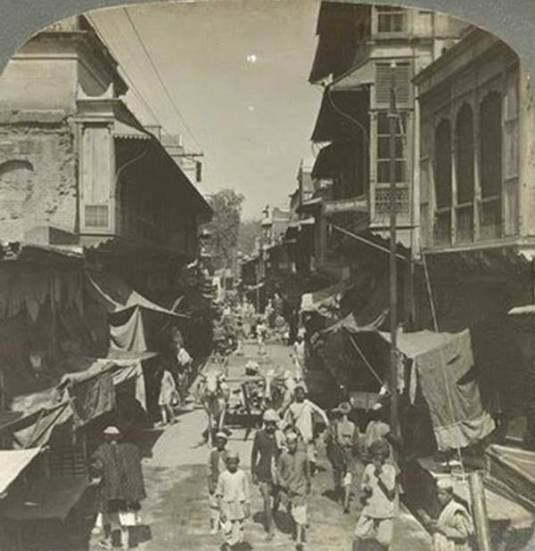 old-india-photos-delhi-street-1908